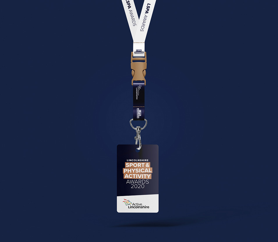 Active Lincolnshire awards branding lanyard by Root Studio