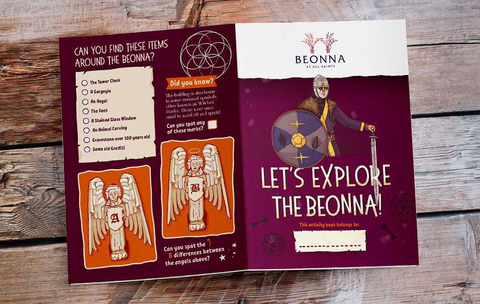 Beonna illustrated childrens kids activity sheet by root studio