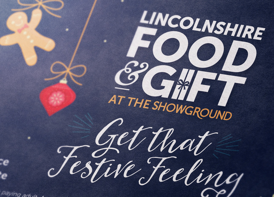 Lincolnshire Food & Gift fair event branding design