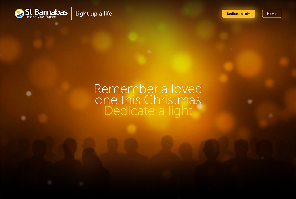 St Barnabas Light up a Life website by Root Studio