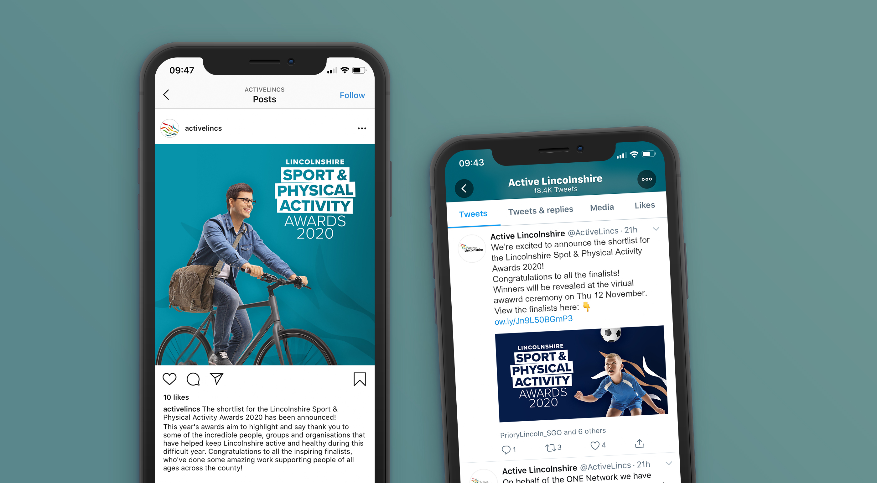 Active lincolnshire sports awards social media template