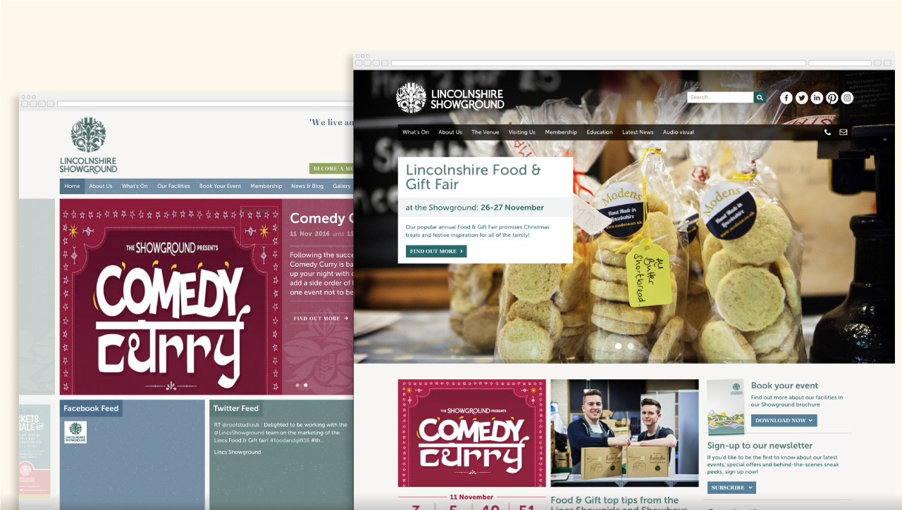 Lincolnshire showground website design