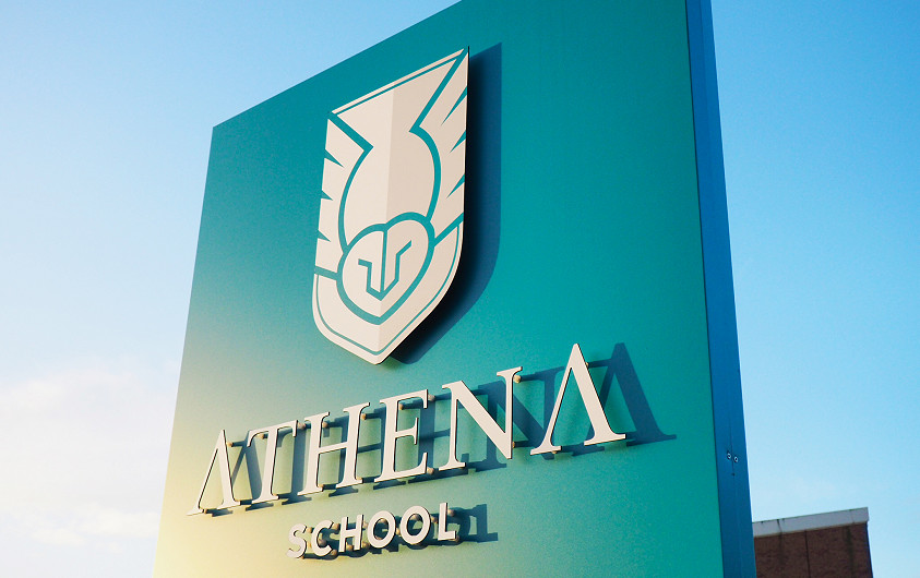 Athena School logo design Lincoln