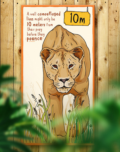 Chester Zoo Asiatic Lion Sign Design