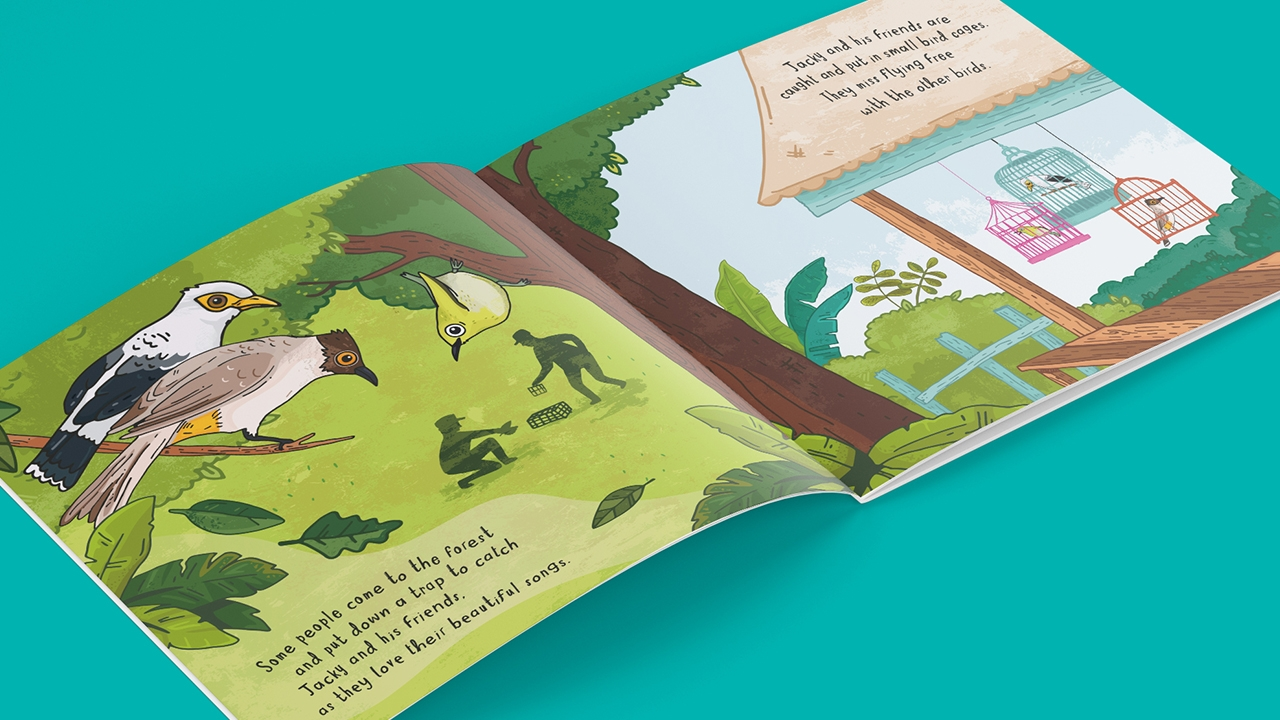 Chester Zoo Indonesian Songbird children's book design