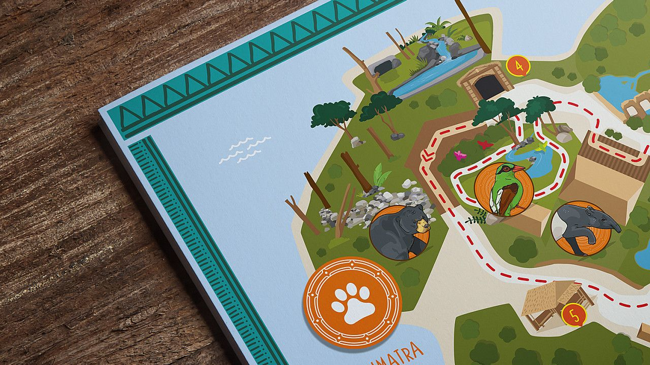 Chester Zoo Islands interpretation panel design