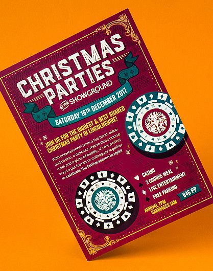 Lincolnshire Showground Christmas Party flyer design