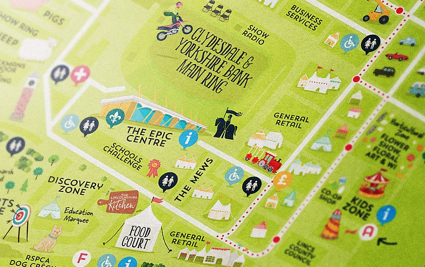 Agricultural show illustrated map design