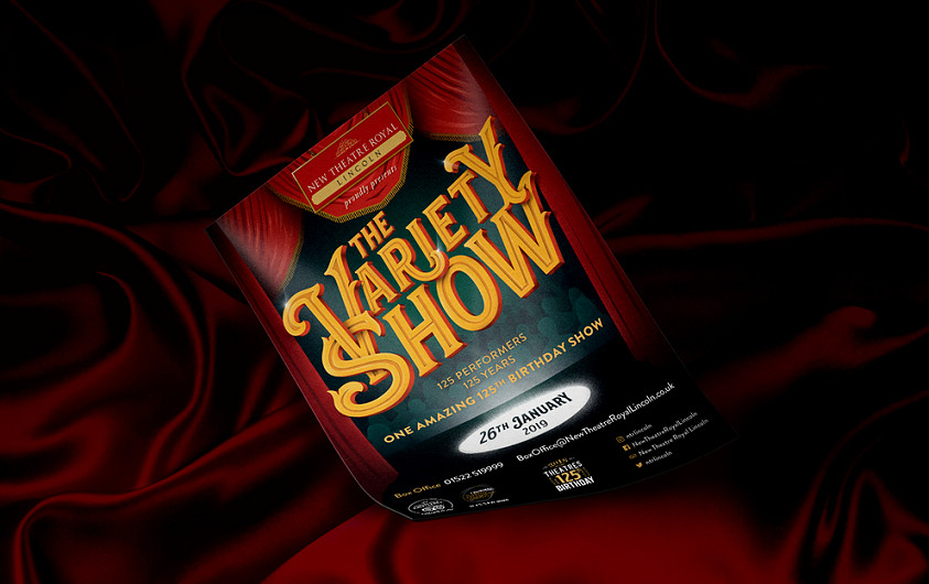 Variety Show performance flyer design by Root Studio