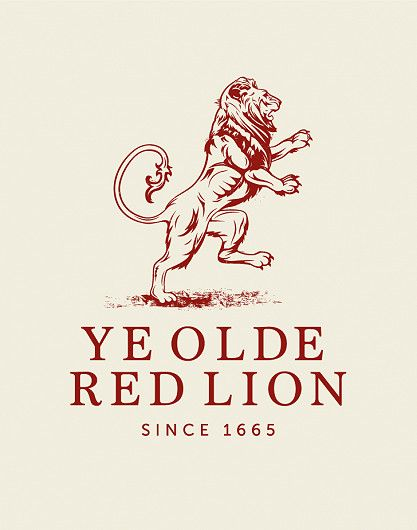 Red Lion pub logo design
