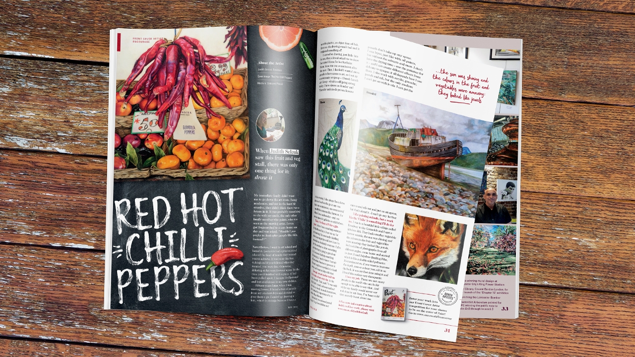 Art and design magazine design, Red Hot Chilli Peppers spread