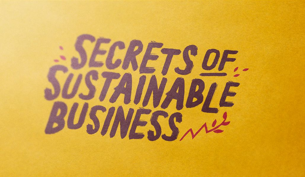 Secrets to Sustainable Business conference logo design