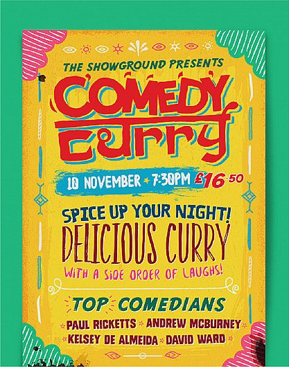 Comedy Curry event branding design