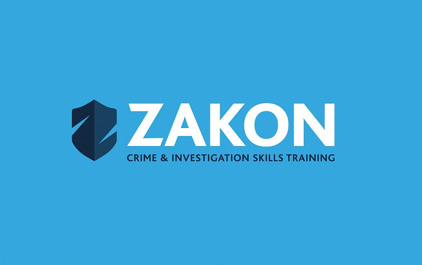 Zakon training logo design with shield icon